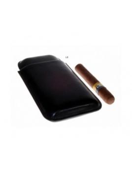Puzdro kožené na 3 cigary čierne