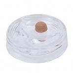 Fajkový popolník sklenený okrúhly, číry