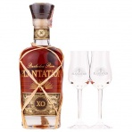 Rum Plantation XO 20th Anniversary 40% 0,7l s 2 pohármi