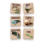 Káva CoffeeFactory Arabica: 6 odrodových káv - zrnková