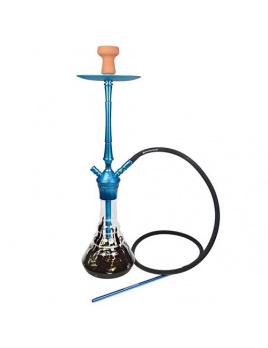 Vodná fajka Kaya Elox 630CE Blue 76 cm, Black Spot